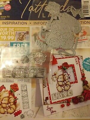 Tattered Lace Magazine Issue 75 With Free Mice Die, Stamps And Papers • 5£