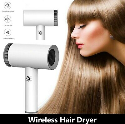 £26.99 • Buy 2021 Portable Wireless Cordless Hair Dryer Styler Blower Blow Dryer Rechargeable