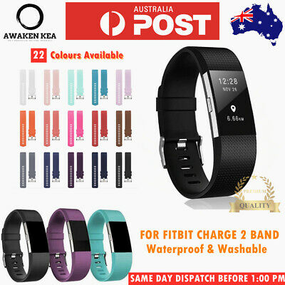 AU5.85 • Buy Fitbit Charge 2 Band Silicon Sports Replacement Watch Strap Wristband Bracelet