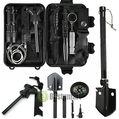 $38.99 • Buy All In One Military Folding Shovel Survival Kits Tactical EDC Gear Camping Tools