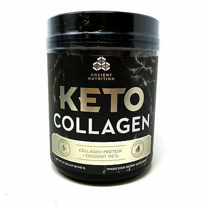 $14.99 • Buy Ancient Nutrition Keto Collagen Powder +Coconut MCTs MCT Oil Protein Keto Diet