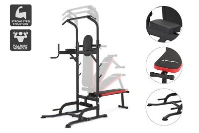 AU350 • Buy Fortis Multi-Function Power Tower   2x 7Kg And 2x 10Kg Dumbbells