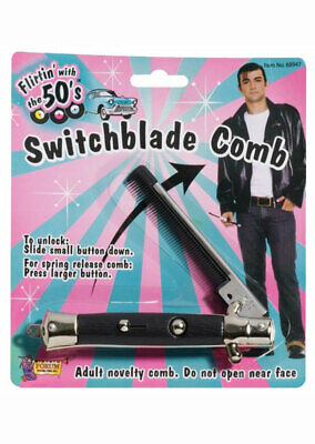 AU15.39 • Buy 1950s Switchblade Comb Grease Costume Accessory Genuine Forum Novelties - New