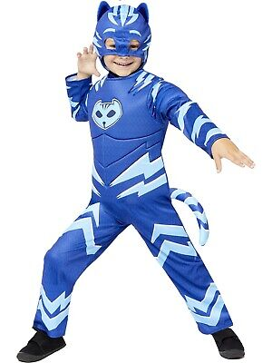 Boys PJ Masks Muscle Chest Catboy Fancy Dress Glow In The Dark Costume Superhero • 16.99£
