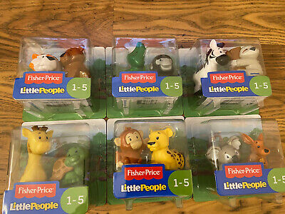Fisher Price Little People Animal Figures 2 Pack Characters Toy Figure Farm Zoo • 4.99£