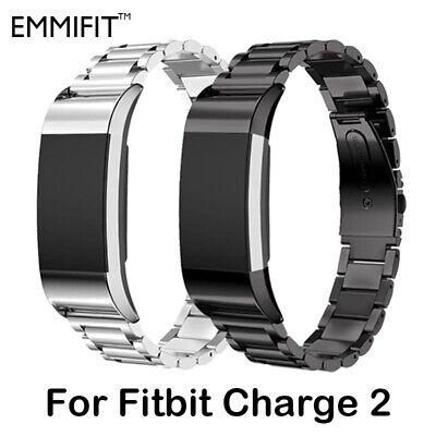 AU19.99 • Buy Stainless Steel Watch Band Metal Strap Bracelet For Fitbit Charge 2 With Tool