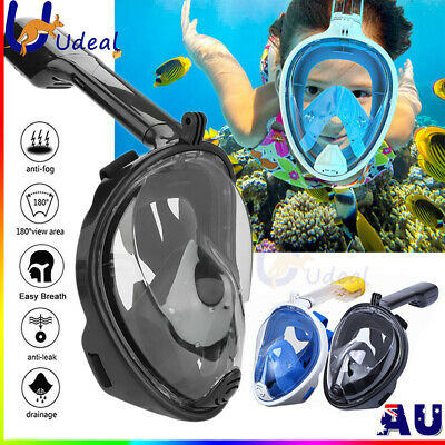 AU25.88 • Buy AU Full Face Diving Seaview Snorkel Snorkeling Mask Swimming Goggles For GoPro