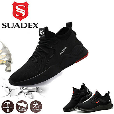 £24.99 • Buy Mens Safety Shoes Work Trainers Womens Steel Toe Cap Lightweight Hiking Boots UK