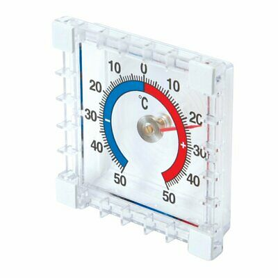 Silverline Indoor & Outdoor Stick On Thermometer Greenhouse Window Wall Garden • 2.85£