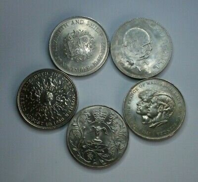 £24 • Buy Comemorative Coins,5 X Crowns.1965,1972,1977,1980 And 1981.