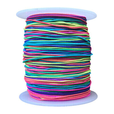 £6.69 • Buy 100m Elastic Stretchy Beading Thread Cord String Bracelet For Making Jewelry