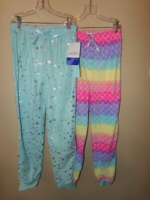 $17.99 • Buy Lot Of 2 Freestyle Revolution Girls Fleece Sleep Pants-12-Stars-Rainbow Colors