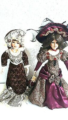 $ CDN39.99 • Buy Two Porcelain Victorian Style Fashionable Lady Dolls