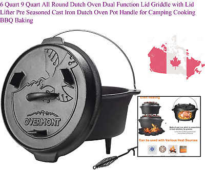 $ CDN74.12 • Buy 6 Quart 9 Quart All Round Dutch Oven Dual Function Lid Griddle With Lid Lifte...