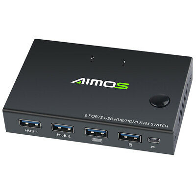AU33.45 • Buy  TOMLOV HDMI KVM Switch Box 2 Port USB VGA Switcher For Printer Mouse PC Sharing