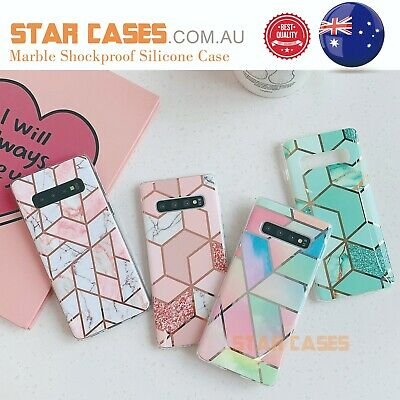 AU9.99 • Buy Samsung S20 Ultra S10 Plus S10e Marble Silicone Shockproof Soft Slim Case Cover