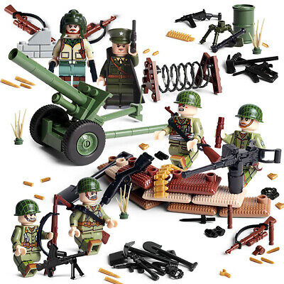 $18.99 • Buy WWII USA Artillery Army Soldiers Minifigure Squad Military Building Blocks Toy