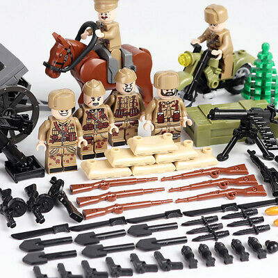 $15.99 • Buy WWII USSR Soviet Army Soldiers Minifigure Military Building Blocks War Toy