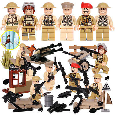 $18.99 • Buy WWII British Army Soldiers Minifigure Squad Military Building Blocks War Toy