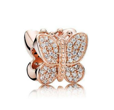AU32.95 • Buy Authentic PANDORA Rose Gold Butterfly # 781257CZ ALE R Charm NEW