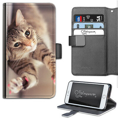 AU25.76 • Buy Brown Cat Paws PU Leather Wallet Phone Case, Flip Case, Phone Cover