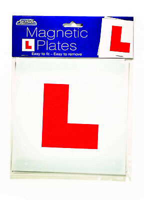 2x Magnetic L Plates Learner Plates Secure Quick Easy To Fix DVLA Learner Sign  • 2.49£