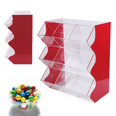 Acrylic Stacking Pick & Mix Dispenser Wedding Sweet Display Stand Candy Box UK • 164£