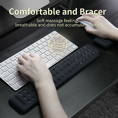 £7.33 • Buy Non Slip Memory Foam Mouse Pad Keyboard Wrist Rest Support For Computer Laptop
