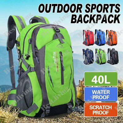 AU19.90 • Buy Waterproof Hiking Camping Bag 40L Large Travel Backpack Outdoor Luggage Rucksack