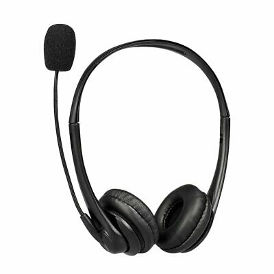 USB Headphones With Microphone Noise Cancelling Headset For Skype Laptop NEW • 14.72£