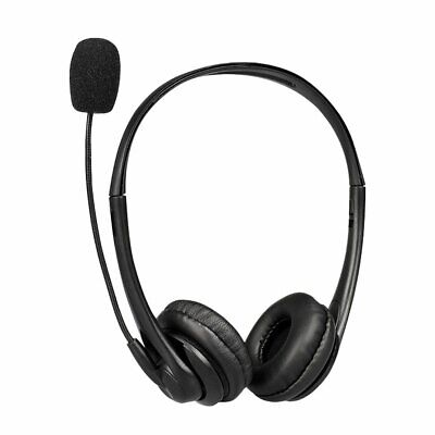 USB Headphones With Microphone Noise Cancelling Headset For Skype Laptop NEW • 13.18£
