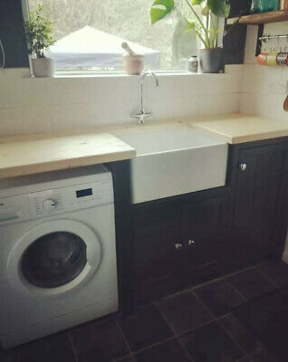 £795 • Buy Free Standing Handmade Solid Pine Painted Belfast Sink Unit With Appliance Space
