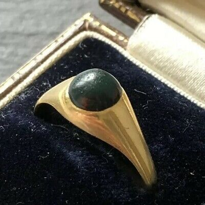 £240 • Buy Antique Victorian 18 Carat Gold Bloodstone Cabochon Ring