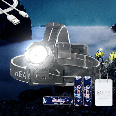 AU43.23 • Buy Bright 90000LM XHP70.2 LED Zoom Headlamp Head Torch USB Rechargeable Headlight