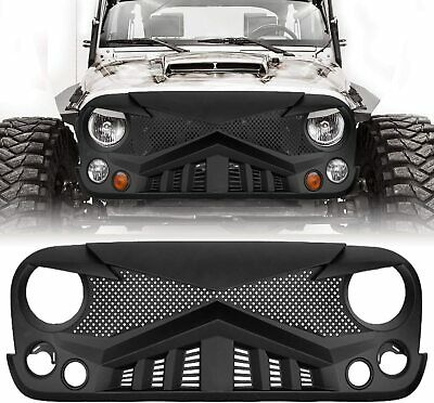 $124.99 • Buy Front Hawke Bumper Grille Guard For Jeep Wrangler 07-18 JK JKU Matte Black ABS