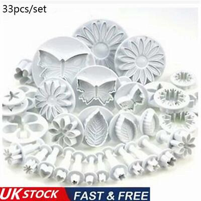 Cookie Biscuit Fondant S Mold Baking Flower Plunger Cake NEW Cutters P2P4 • 9.12£