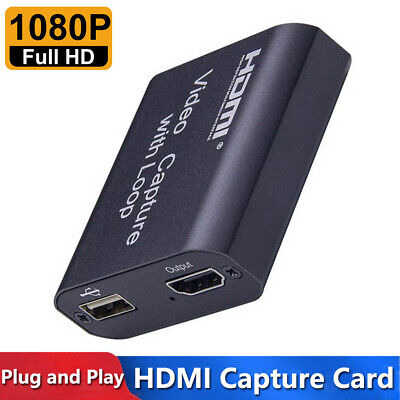 4K HDMI To USB 2.0 HD 1080P Video Capture Card Recorder For Game Live Streaming • 12.49£