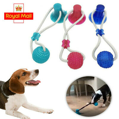 Pet Molar Bite Toy Cleaning Teeth Safe Elasticity Toys Suction Cup Multifunction • 7.19£