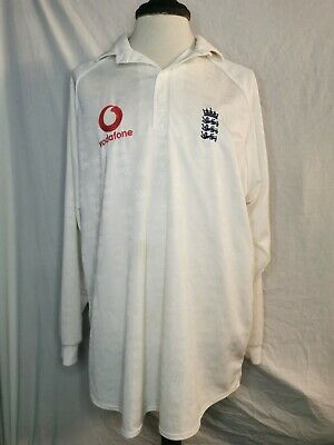 England Cricket Shirt 2004 Asics Vodafone XL • 30£