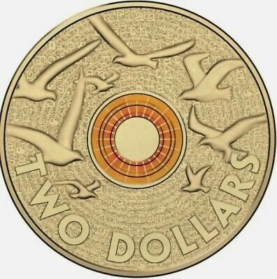 AU5.95 • Buy 2015 ORANGE Remembrance Day $2 Dollar Coin UNC From RAM BAG
