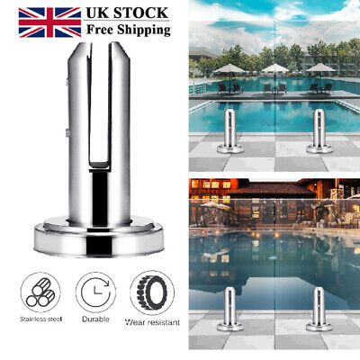 Stainless Steel Glass Spigots Panels Pool Fence Stair Bracket Balustrade Round • 14.38£