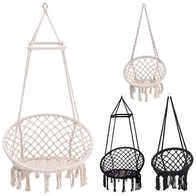 Hanging Hammock Rope Swing Chair Outdoor Indoor Garden Hammock Seat/Stand Home  • 159.54£