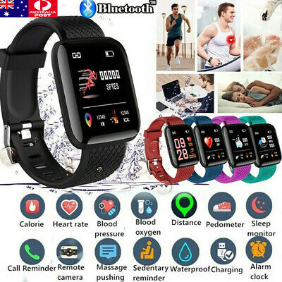AU7.99 • Buy UK Smart Watch Band Sports Activity Fitness Tracker For Kids Fitbit Android IOS