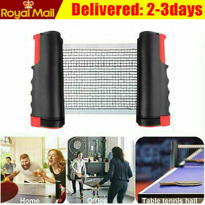 Portable Retractable Table Tennis Ping Pong Net Games Replace Net Rack Set UK • 8.39£