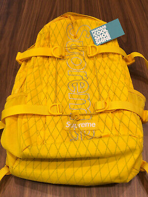 $ CDN255.23 • Buy 2018 Fw18 Supreme Backpack Dp Yellow Reflect Silver Pineapple Box Logo