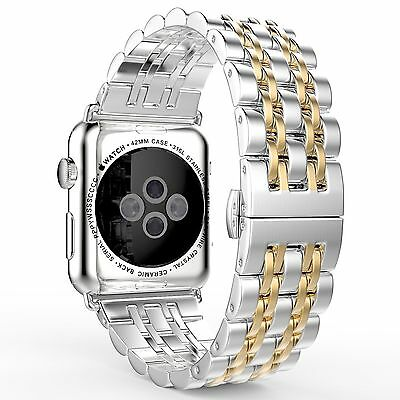 AU26.99 • Buy Steel Stainless Wrist Watch Band Strap Bracelet For Apple Watch Series 6 5 4 3 2