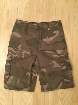 New Airwalk Green Grey Camo Combat Cargo Shorts, 30 Inch Waist • 3.99£