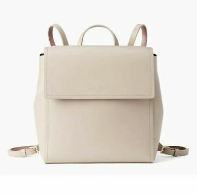 $ CDN165.85 • Buy Kate Spade Somerville Road Megyn Soft Taupe Backpack Leather Handbag $379