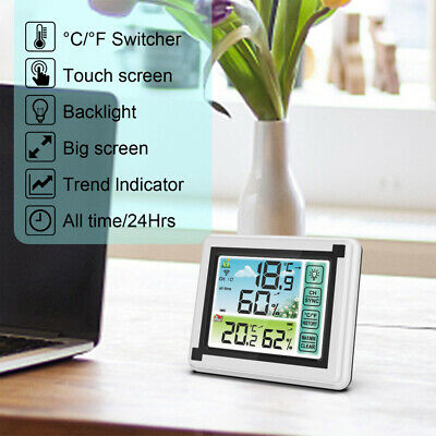 Large Screen Wireless Weather Station Hygrometer Humidity Forecast Sensor Indoor • 21.76£
