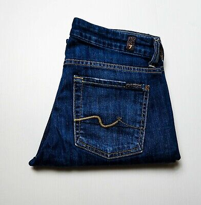 AU44.95 • Buy 7 For All Mankind 'Kimmie' Straight Leg Blue Jean Size 27
